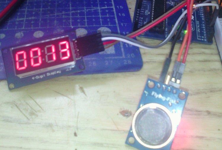 Датчик газа MQ9 и вывод результата с помощью индикатора TM1637 на arduino
