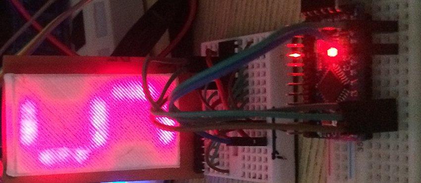 Самодельный 7-сегментный индикатор. Подключение к arduino